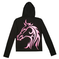 Example of hoodie horse stencil design
