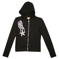 Example of hoodie falling star stencil design