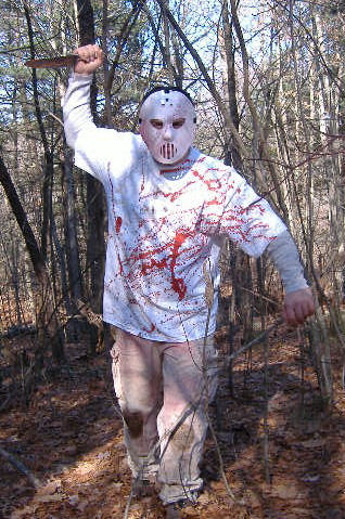 Example of crazy killer movie-style costume