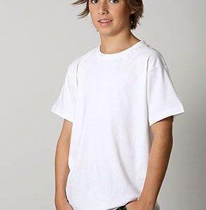 Plain kids tshirt in white colour