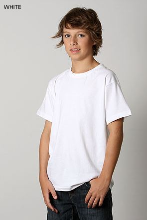 Plain kids tshirt in white colour