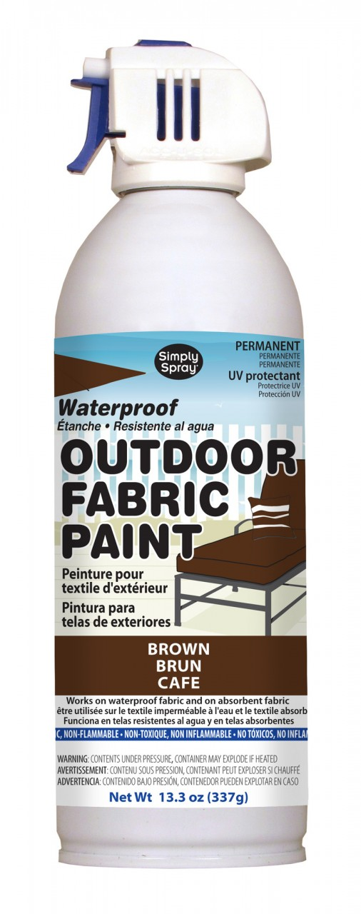 Upholstery simply spray outdoor brown colour fabric paint for furniture restoration
