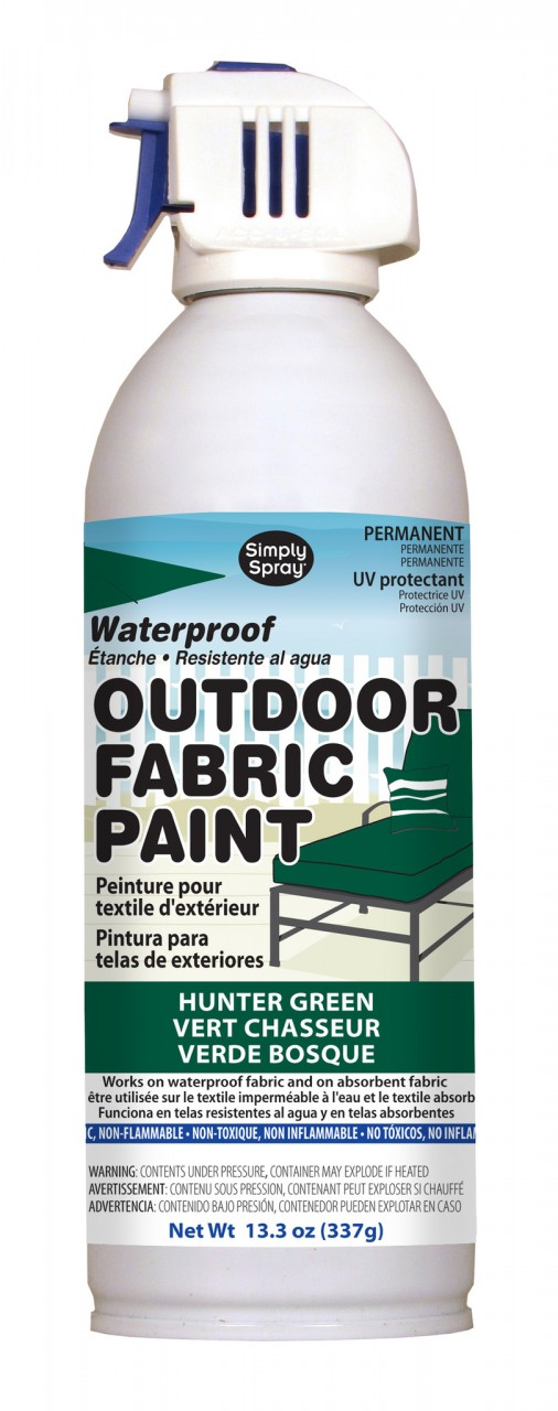 Upholstery simply spray outdoor hunter green colour fabric paint for furniture restoration