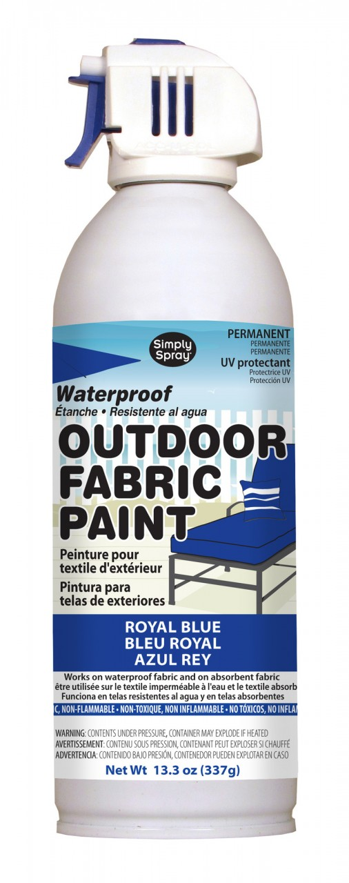 Upholstery simply spray outdoor royal blue colour fabric paint for furniture restoration