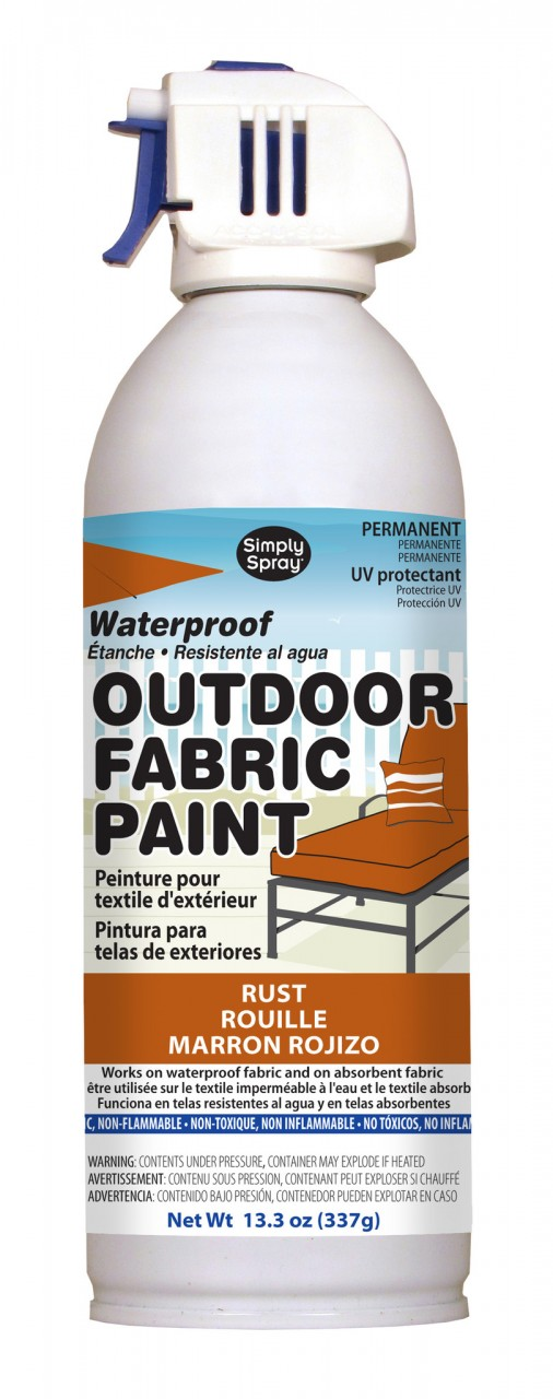 Upholstery simply spray outdoor rust colour fabric paint for furniture restoration