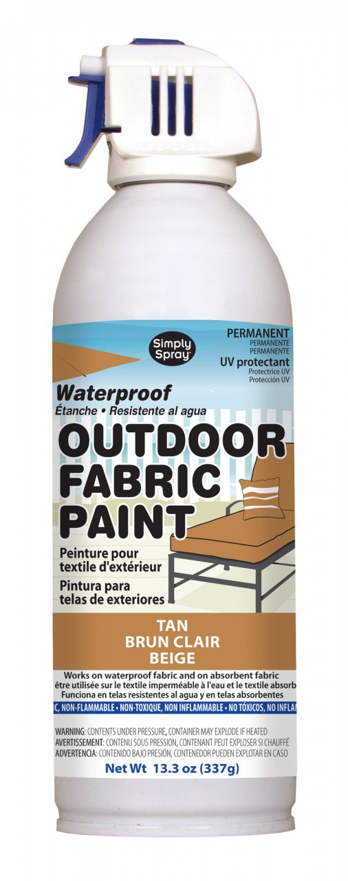 Upholstery simply spray outdoor tan colour fabric paint for furniture restoration