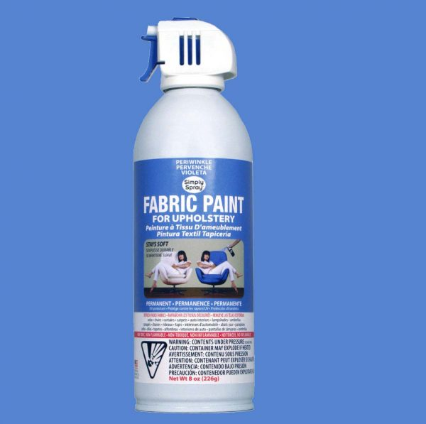Upholstery simply spray perwinkle fabric paint