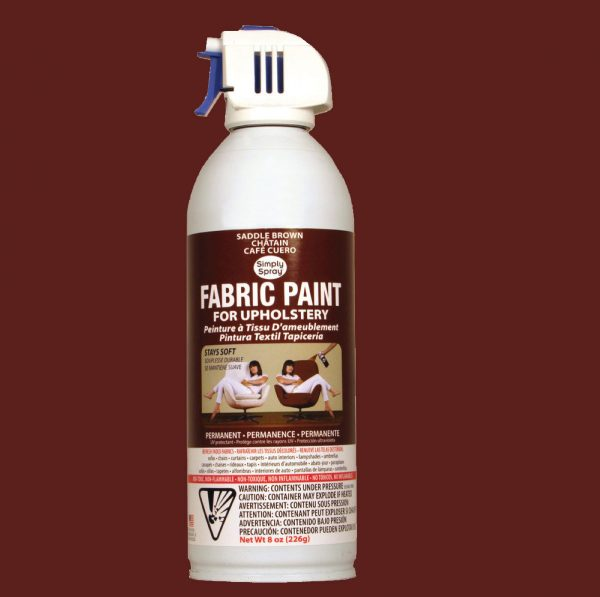 Upholstery simply spray saddle brown fabric paint for furniture restoration