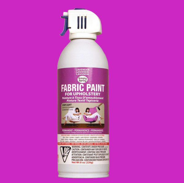 Upholstery simply spray lavender fabric paint for furniture restoration