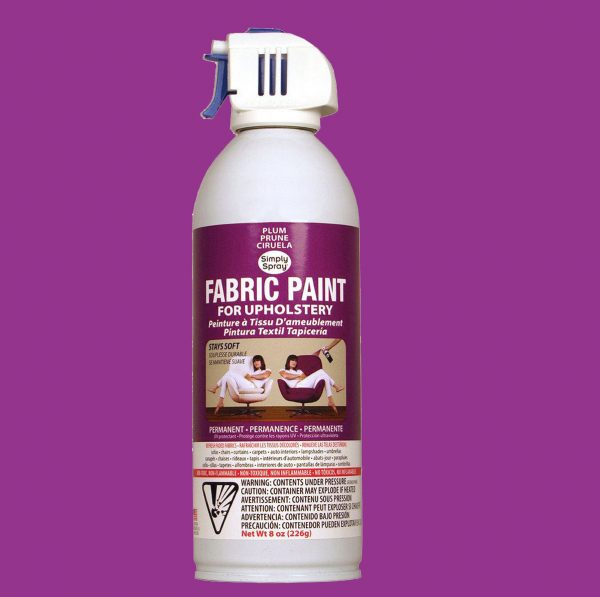 Upholstery simply spray plum fabric paint for furniture restoration