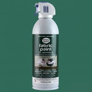 Upholstery simply spray hunter green colour fabric paint for furniture restoration