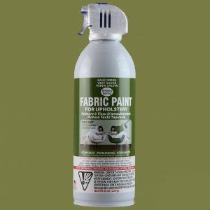 Upholstery simply spray sage green colour fabric paint for furniture restoration