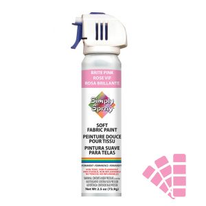Soft simply spray brite pink colour, fabric paint for clothing and garments restoration