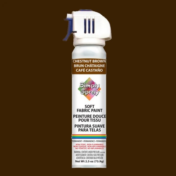 Soft simply spray chestnut browm colour, fabric paint for clothing and garments restoration