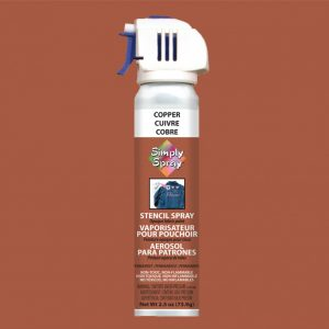 Stencil simply spray copper colour. Fabric paint for clothing and garments decoration