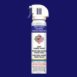 Soft simply spray deep purple colour, fabric paint for clothing and garments restoration