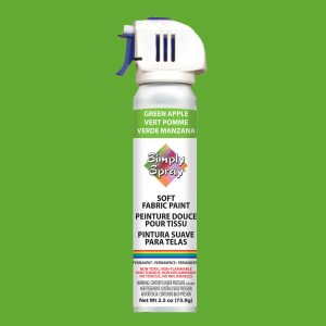 Soft simply spray green apple colour, fabric paint for clothing and garments restoration