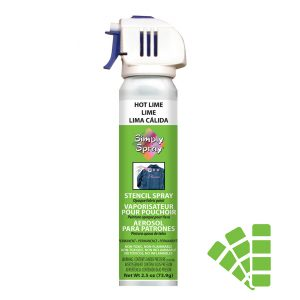 Stencil simply spray hot lime colour, fabric paint for clothing and garments decoration