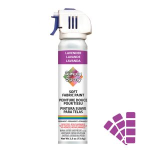 Soft simply spray lavender colour, fabric paint for clothing and garments restoration