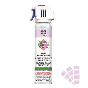 Soft simply spray lilac colour, fabric paint for clothing and garments restoration
