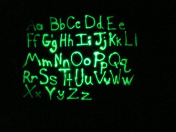 glow in the dark Simply spray – Fabric paint