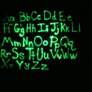 glow in the dark Simply spray - Fabric paint