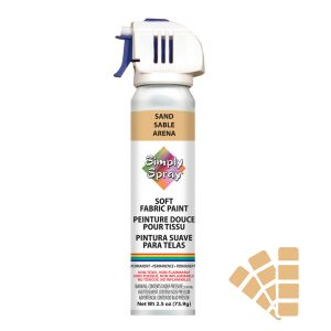 Soft simply spray sand colour, fabric paint for clothing and garments restoration