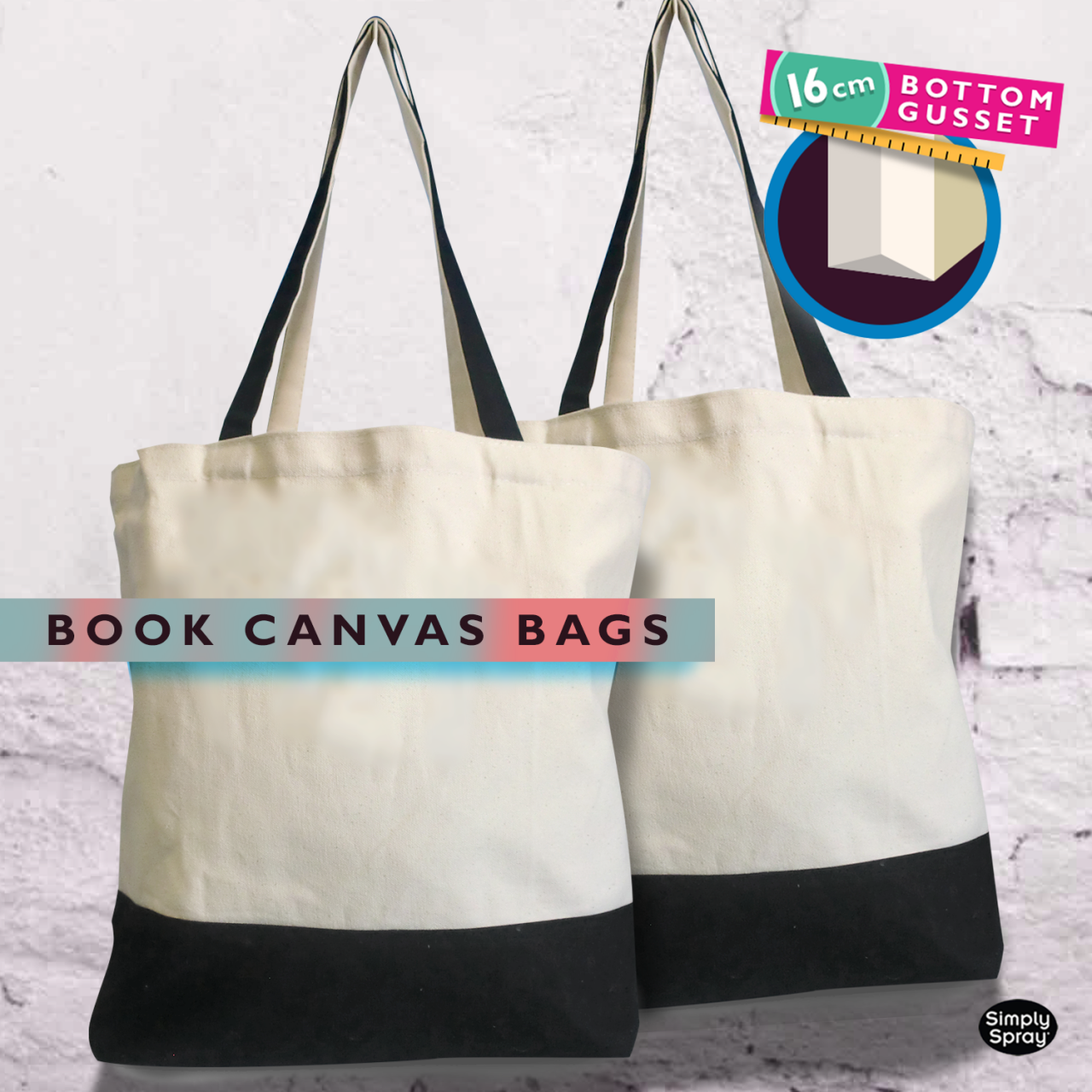 Canvas Bag 2 Shoulder Straps