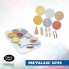 Panpastel 6 colour set metallic