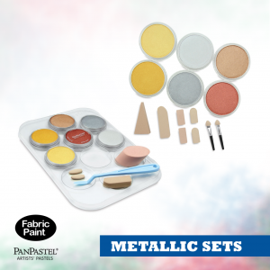 Panpastel 6 colour set metallic