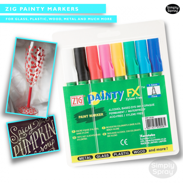 Zig painty markers – clothing/fabric decoration