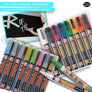 Zig posterman markers - clothing/fabric decoration
