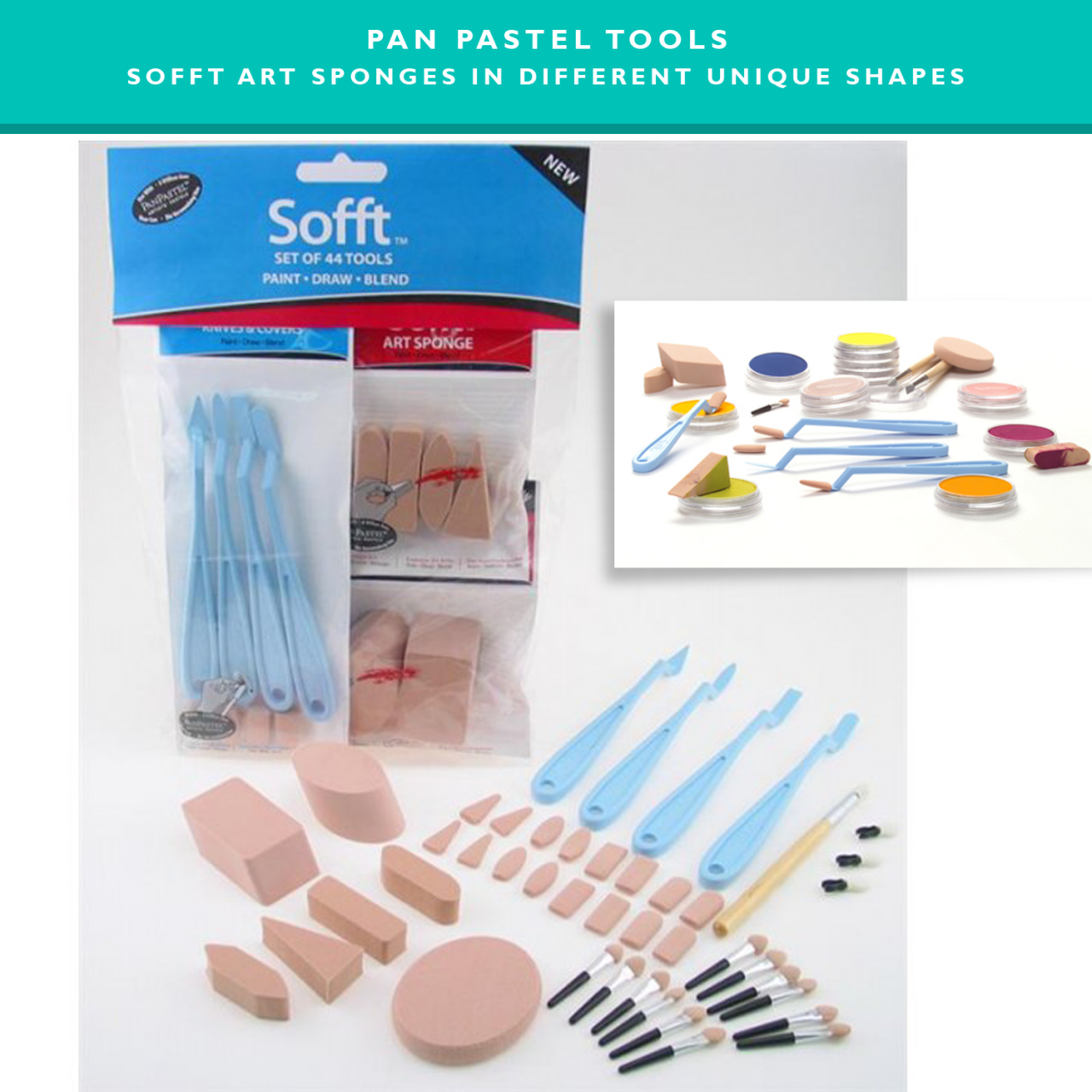 Panpastel tools - Sofft art sponges for panting, drawing and blending - Pan pastel