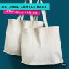 Natural canvas bag- calico tote bag