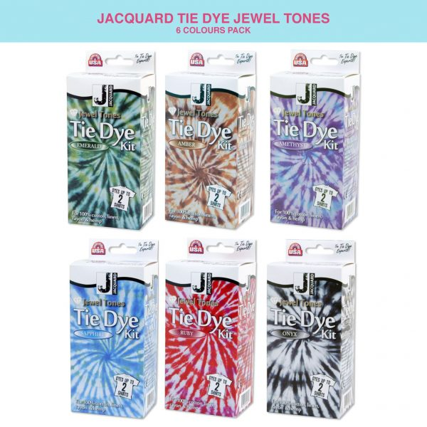 Jacquard tie dye kit in jewel tones – fabric dyeing – fabric decoration