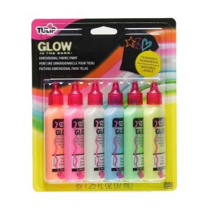 Tulip dimensional fabric paint glow pack - fabric decoration