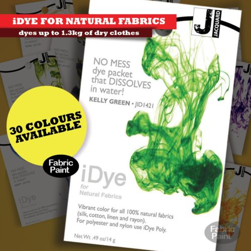 jacquard idye natural kelly green colour