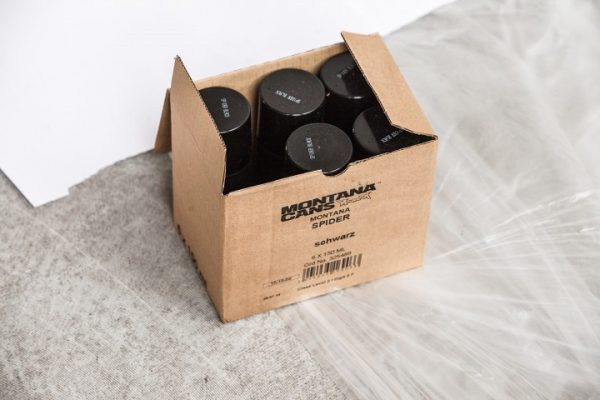 MONTANA PAINT CAN BLACK NC.FORM. SPIDER EFFECT SPRAY 400ML