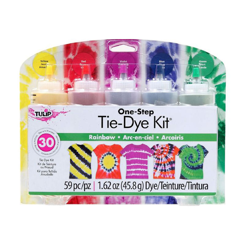 tulip tie dye kit large 5 bottles rainbow
