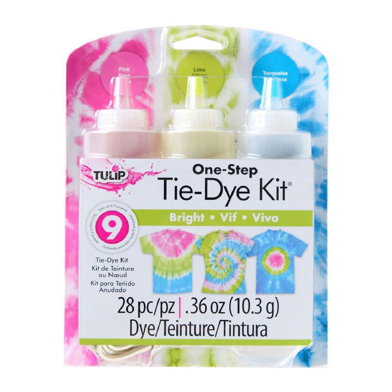 tulip tie dye kit medium 3 bottles bright