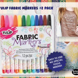 Tulip Permanent Fabric Markers – 12 Colors