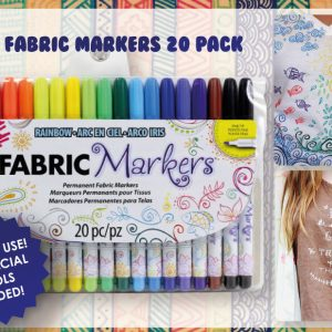 Tulip Permanent Fabric Markers - 20 Colors
