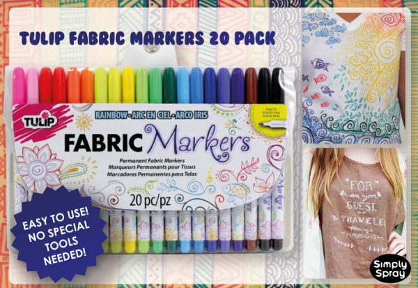 Tulip Permanent Fabric Markers – 20 Colors