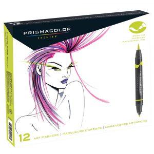 Prismacolor Brush Tip Marker Set - Prismacolour marker - set of 12 colours