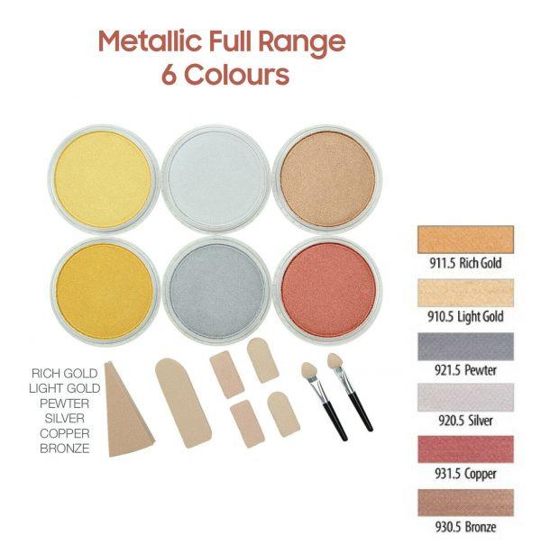 PanPastel Metallic full range 6 colours