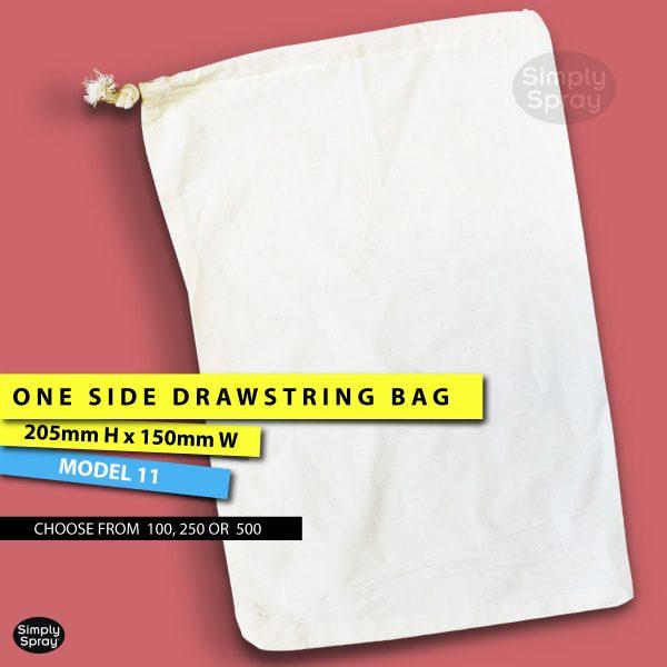 Drawstring blank calico bag – Gift bag – wedding bag