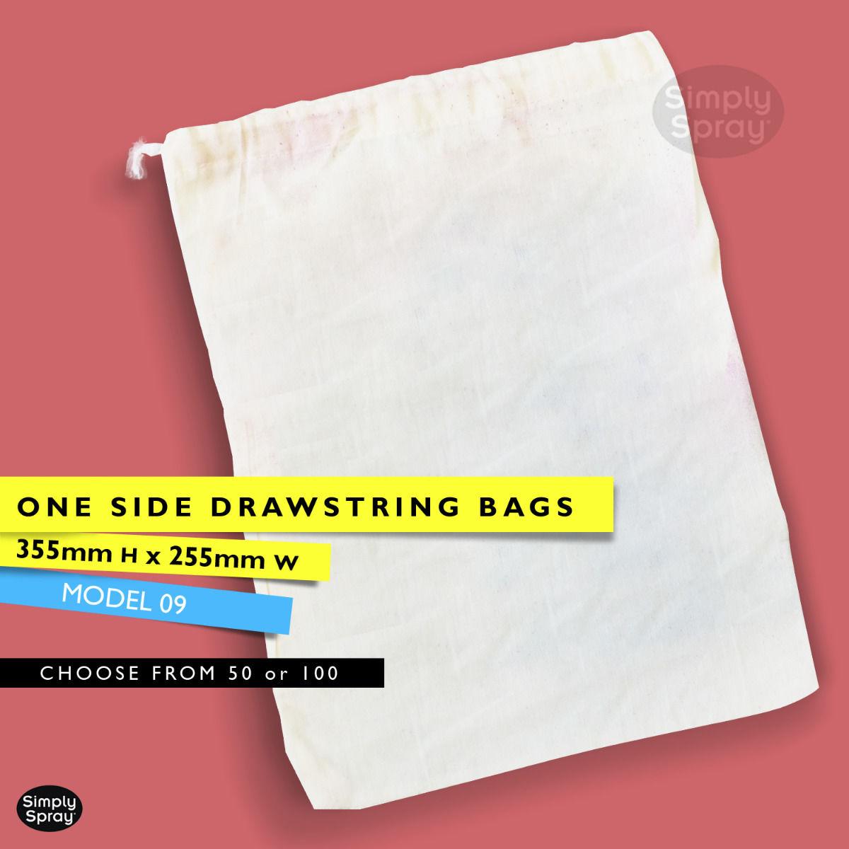 Drawstring blank calico bag - Gift bag - wedding bag