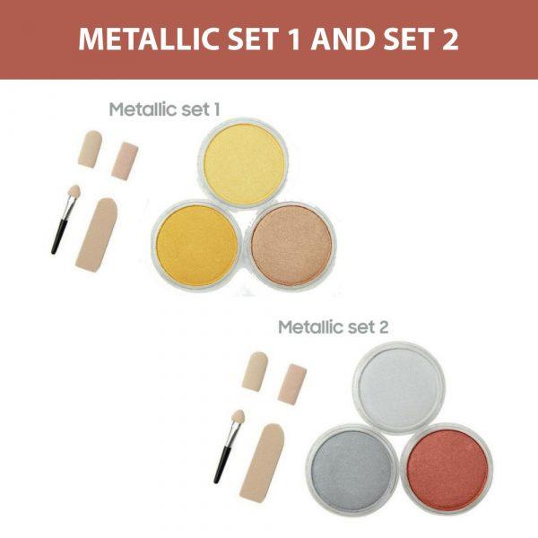 PanPastel metallic set 1 and 2, 3 colours