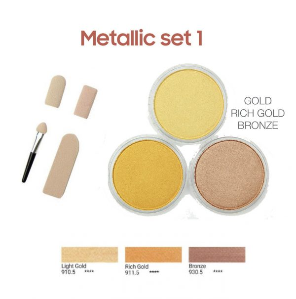 PanPastel metallic set 1, 3 colours