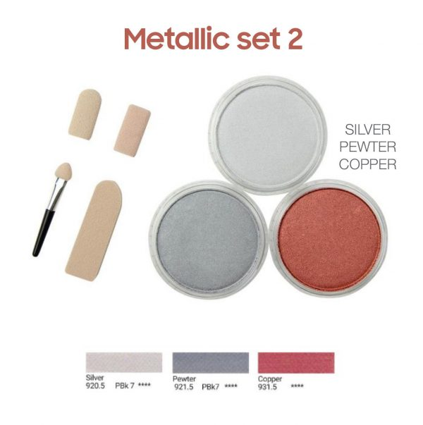 PanPastel metallic set 2, 3 colours